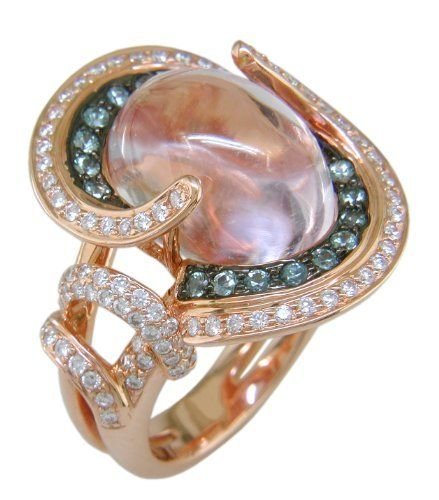 18KR Kunzite, Green Sapphire and Diamond Ring The Judy Mayfield Collection,