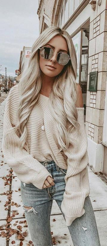 V-Neck Long Sleeve Button Knitted Sweater