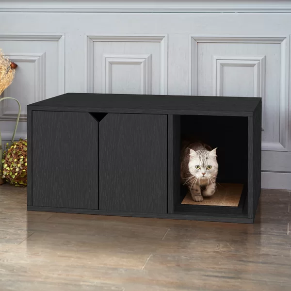 Tucker Murphy Pet Grinnell Litter Box Enclosure Wayfair Litter Box Furniture Cat Litter Box Furniture Litter Box Enclosure