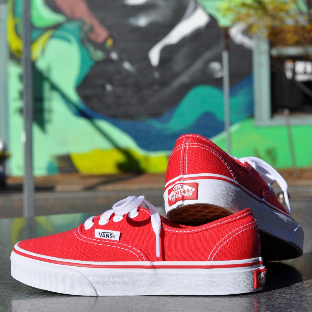 vans authentic red sneakers