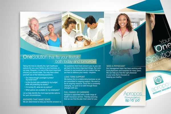 Apropos Insurance Solutions Tri-Fold Flyer Design on Behance