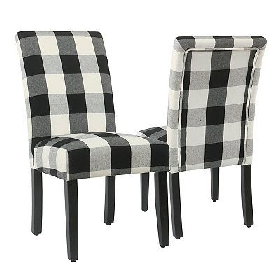 Best Black Buffalo Check Dining Chairs Set Of 2 In 2020 640 x 480