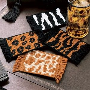 Leisure Arts - Safari Coasters Plastic Canvas Patterns ePattern, $2.99 (http://www.leisurearts.com/products/safari-coasters-plastic-canvas-patterns-digital-download.html)