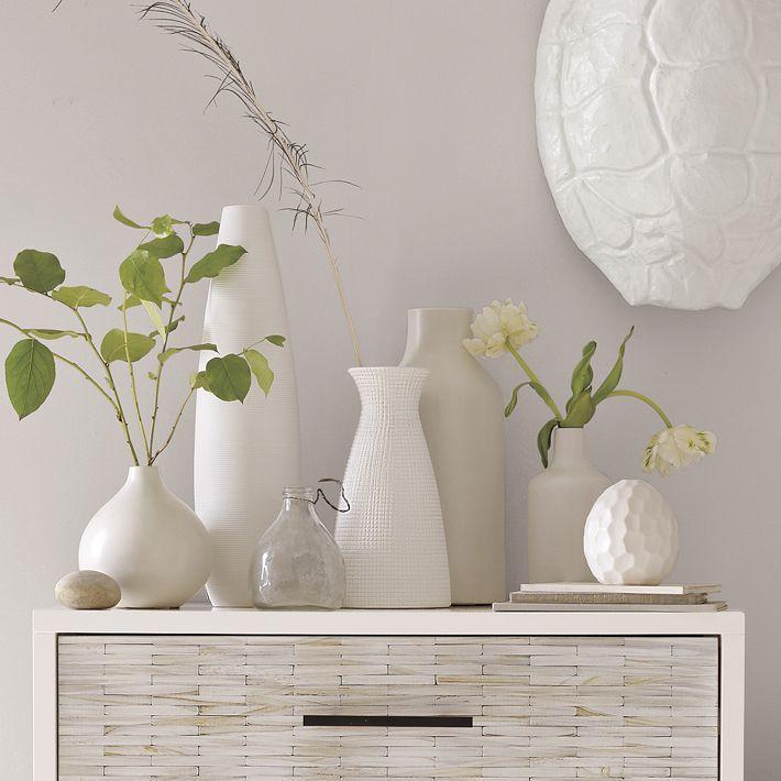 Pure White Ceramic Vases | Faire Soi Meme, Poterie Et Rubis