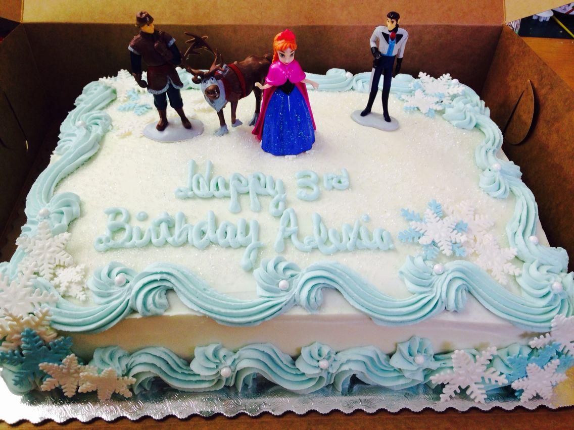 Frozen Half Sheet Cake With Images Frozen Birthday Cake