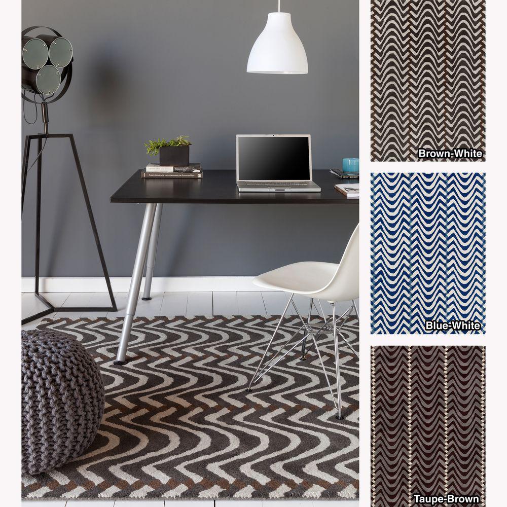 Mandara Hand-tufted Abstract Wool Rug (5' x 7')   Overstock.com