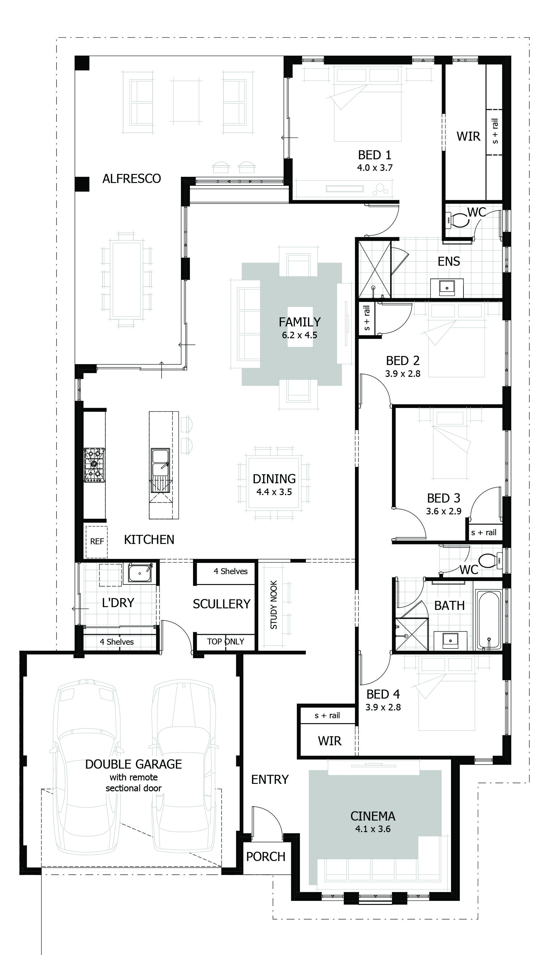 5-zimmer-haus design-pläne browse our range of  bedroom house plans  sweet home  pinterest