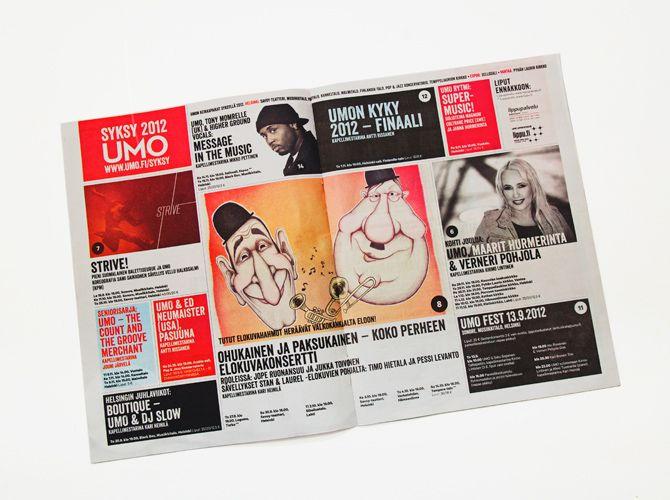 UMO Magazine redesign for UMO Jazz Orchestra