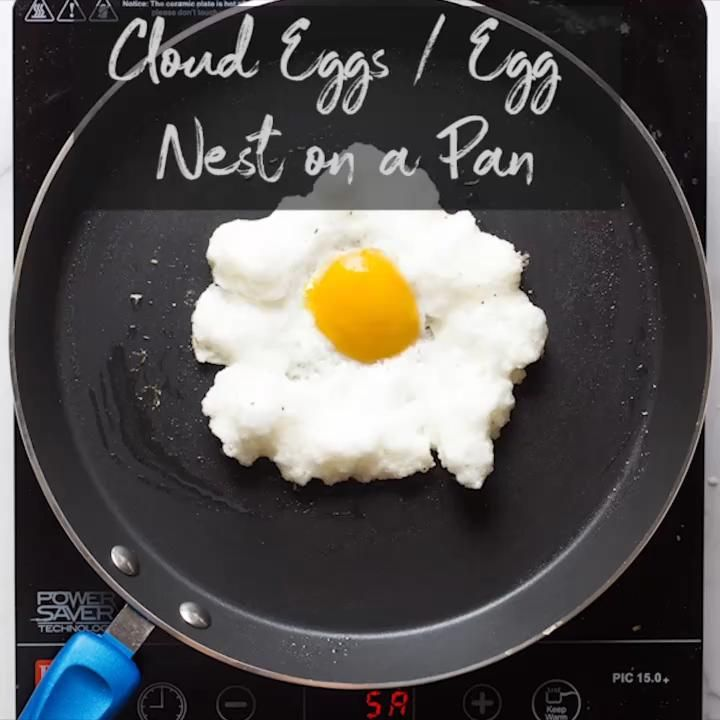 How to make Cloud Eggs on a Pan (without oven) Nobake recipe