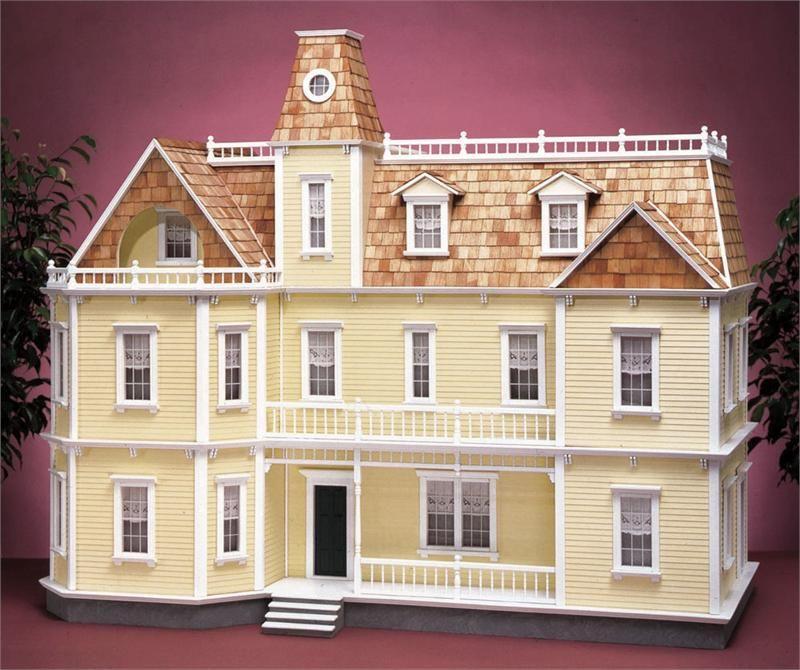 Bostonian dollhouse kit dollhouse kits miniature for Victorian kit homes