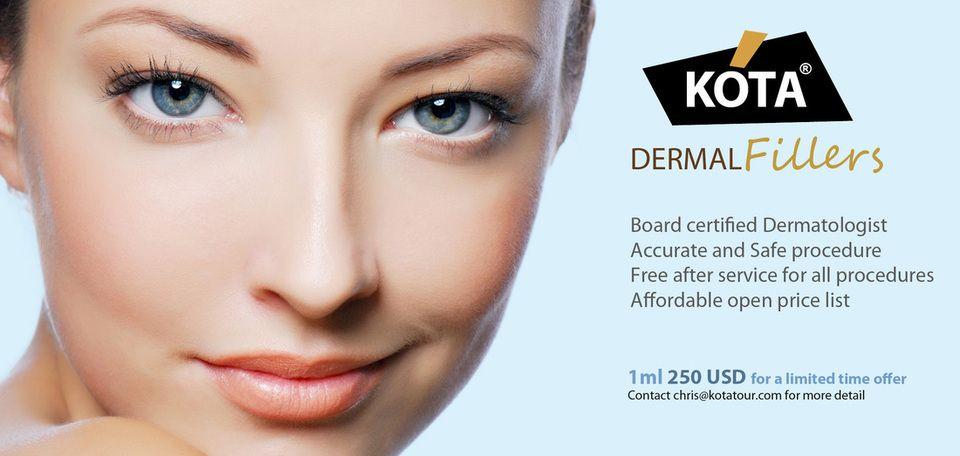 Dermal filler promotion discount at KOTA medical in Korea