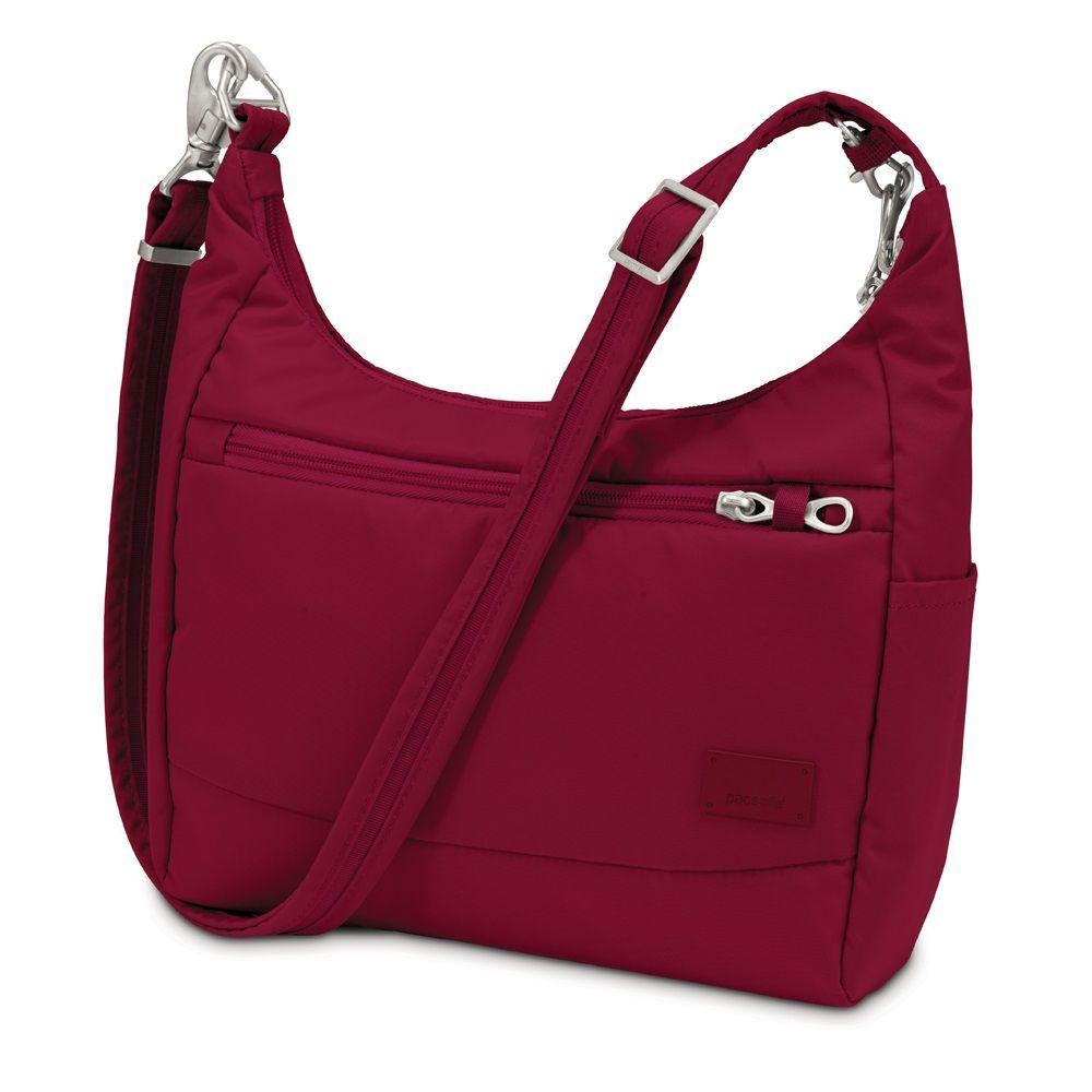 pacsafe Citysafe CS100 Anti-Diebstahl Reisehandtasche Cranberry