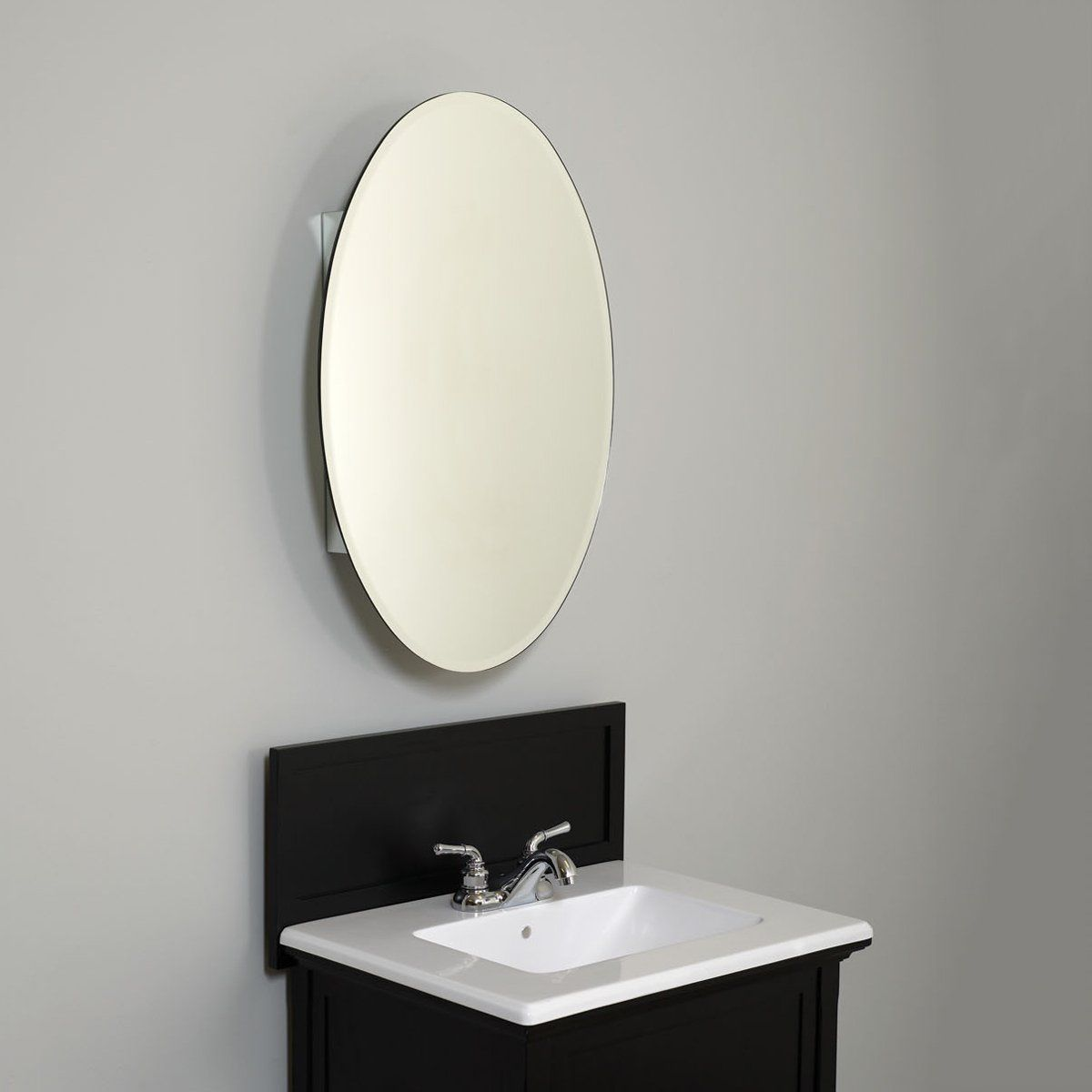 Zenith Products MVA 2030 Medicine Cabinet With Oval Beveled Mirror - Fixture Universe