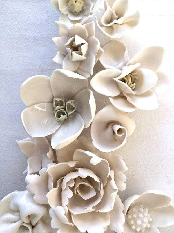 Mixed porcelain flowers | syra gomez | contemporary porcelain art | DSHOP