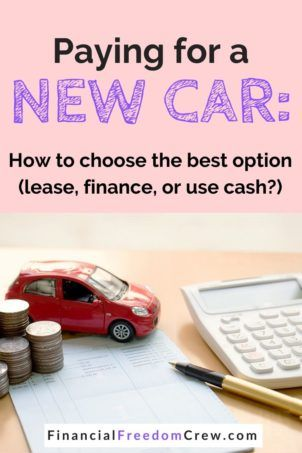 Best options for new car purchase