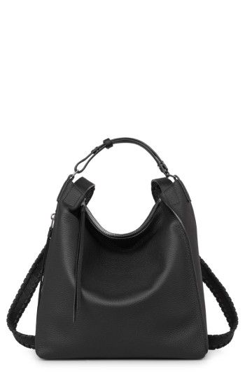 a32841abed ALLSAINTS SMALL KITA CONVERTIBLE LEATHER BACKPACK - BLACK.  allsaints  bags   leather