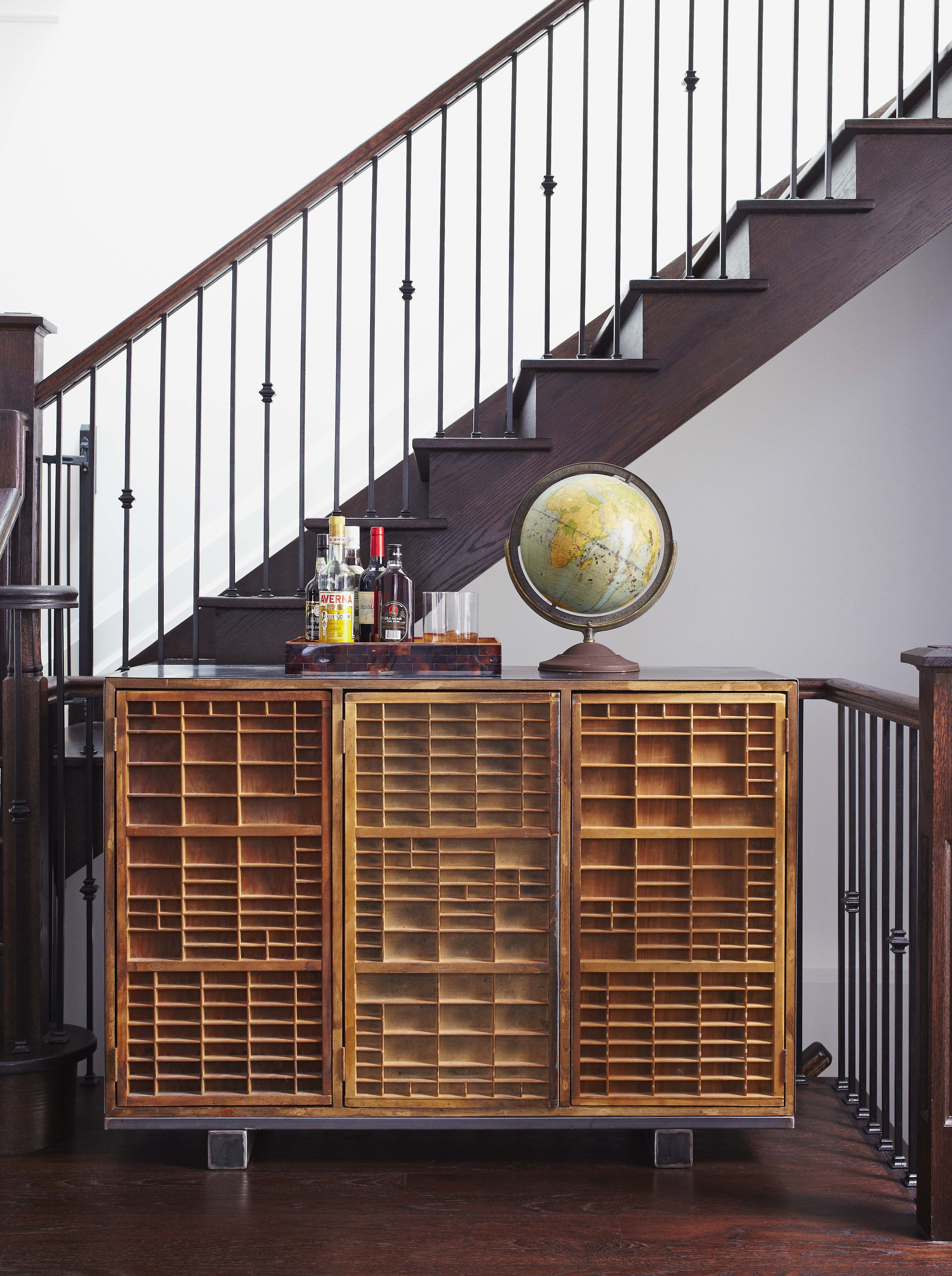 Inventive Cabinet With Letter Press Storage Holders For Doors By Casey Design Planning Group