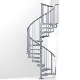 arke eureka 63 in x 10 ft gray spiral staircase kit k21008 rh pinterest com