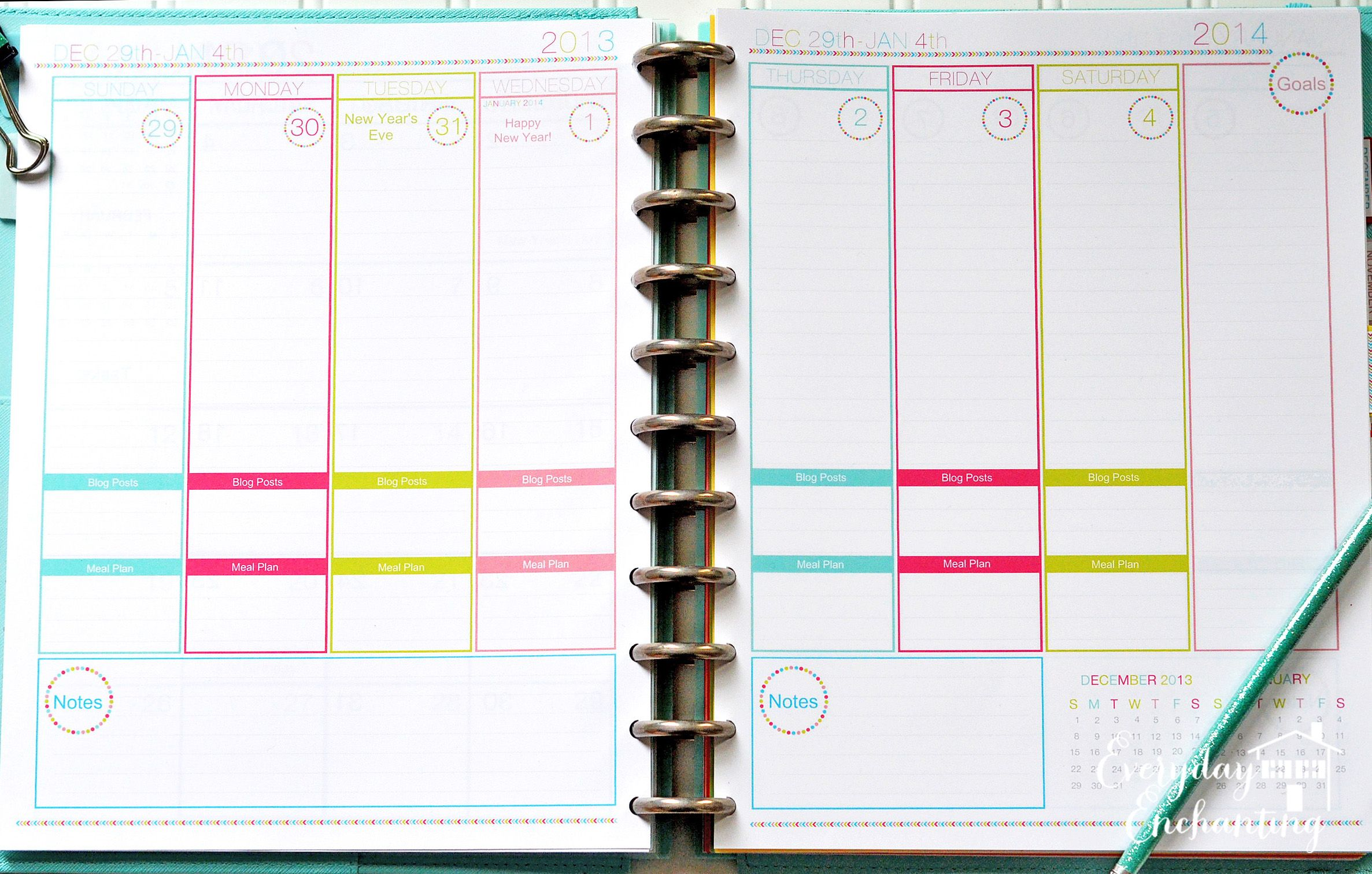 How I Organized My Planner