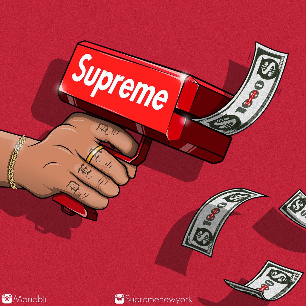 Supreme Cash By Mariobli Supreme Iphone Wallpaper Supreme Wallpaper Graffiti Wallpaper Iphone