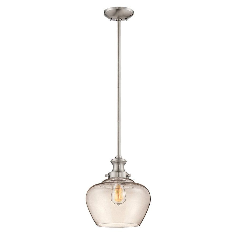Lowes Pendant Lighting Unique Shop Millennium Lighting 11In W Nickel Hardwired Standard Mini Decorating Design