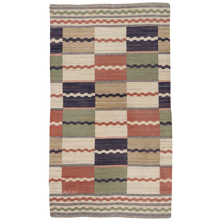 Swedish Handwoven Scandinavian Classic Rug By Marta Maas Fjetterstrom In 2020 Classic Rugs Scandinavian Rug Modern Tapestries