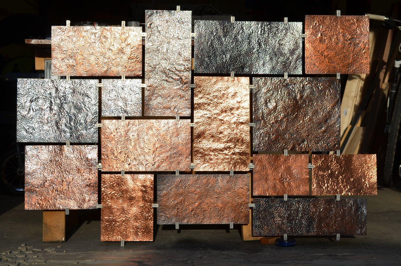 Custom Hammered Copper Wall Art 2 900 00 Via Etsy