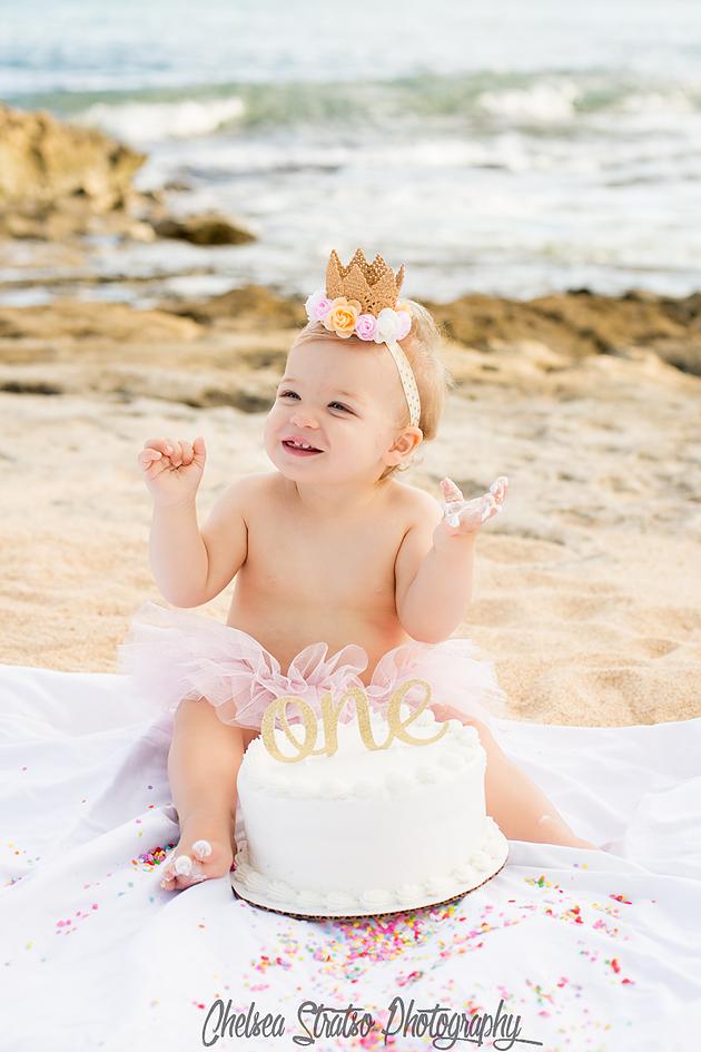 Girls First Birthday Girls Cake Smash Cake Smash Hawaii Cake
