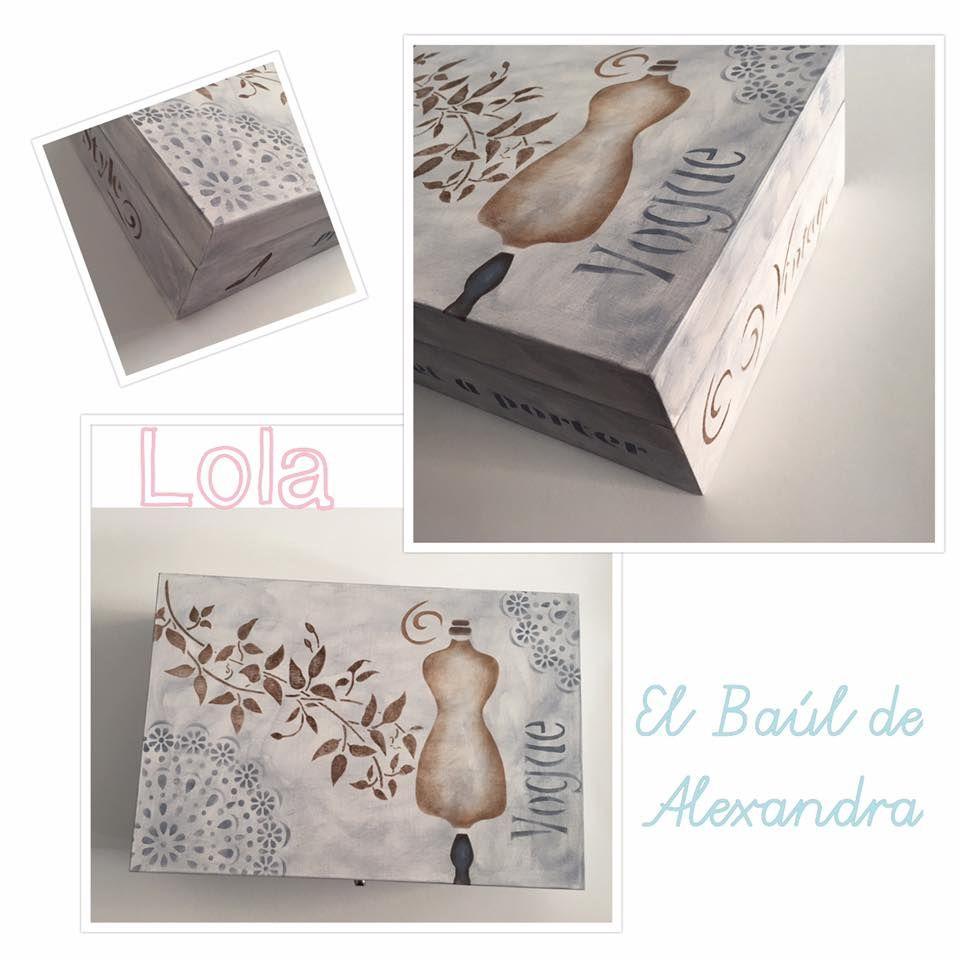 Caja Realizada Con Stencil Y Pinturas De Dayka Trade Por Lola En