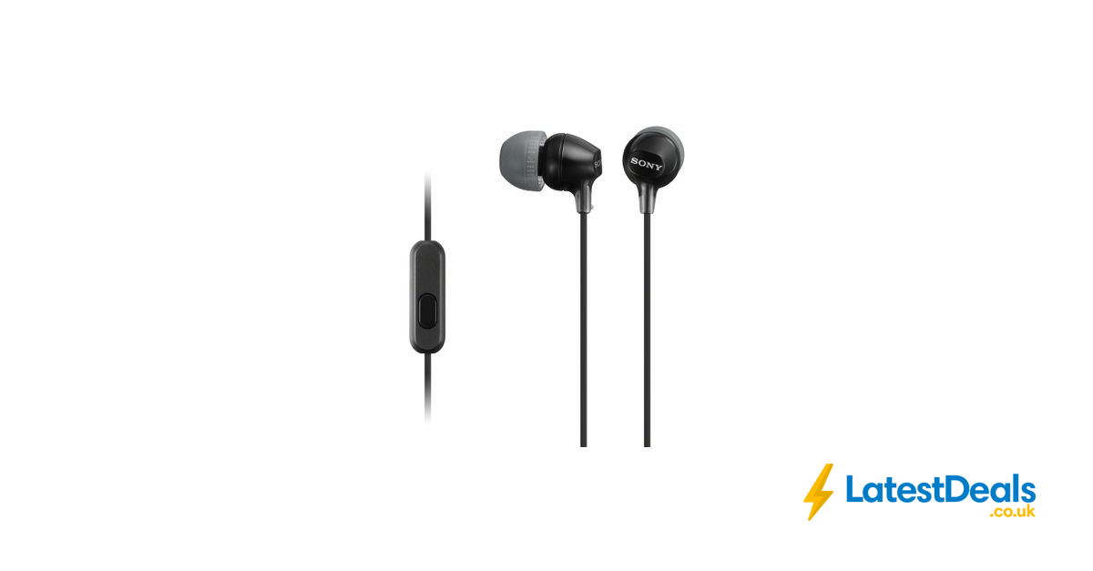 SONY Headphones Black + Free 3 Month Deezer Premium