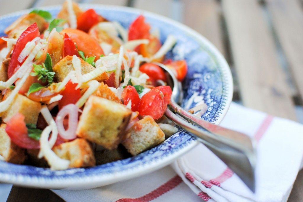 panzanella de frango e funcho