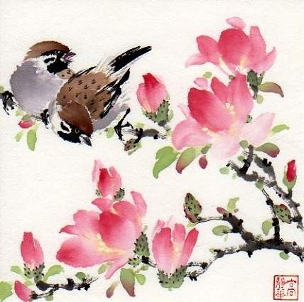 """You are so beautiful!"" - Original Fine Art for Sale - © by Jinghua Gao Dalia"