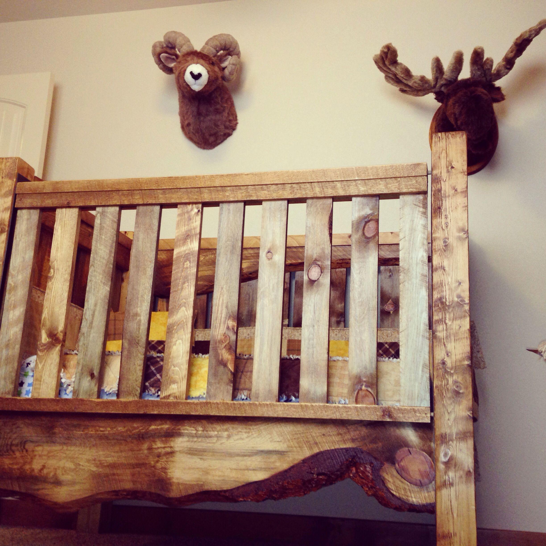Crib for sale vernon bc - Live Edge Baby Crib And Hunting Lodge Nursery I Love This Crib