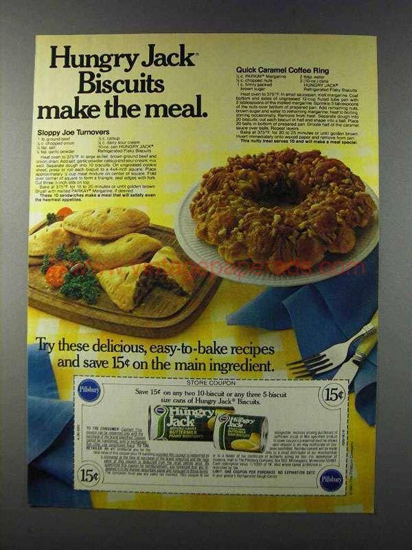 1981 Pillsbury Hungry Jack Biscuits Ad Sloppy Joe In 2019
