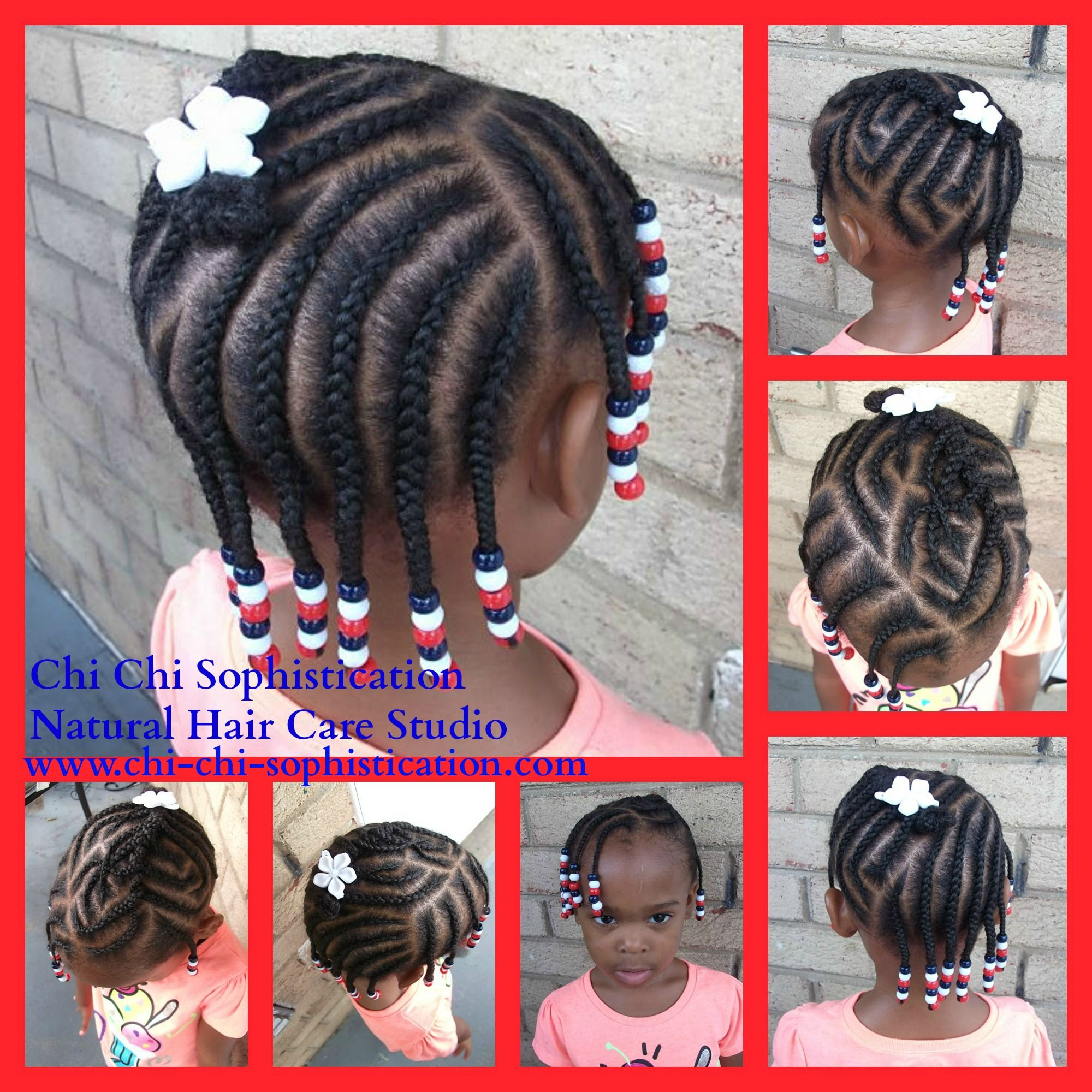 Fourth Of July Hairstyles 4th Of July Inspired Hairstyle Cornrows Red White Blue Beads