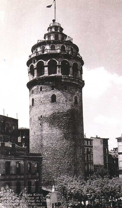 galata tower istanbul year 1935 istanbul mimari fotografcilik fotograf