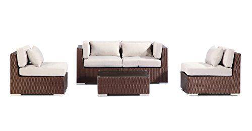 Patio Outdoor Furniture Loveseat Sofa Modify-It Kauna 5-pc Set