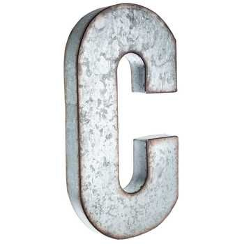 "Galvanized Metal Initials C Large Galvanized Metal Letter  So Many Shapeways To Say ""i Do"