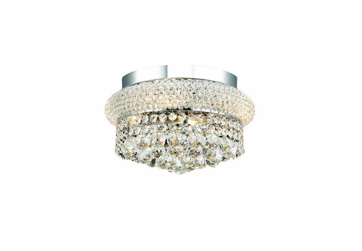 Elegant Lighting 1800F12C Primo 4-Light Single-Tier Flush Mount Crystal Chandel