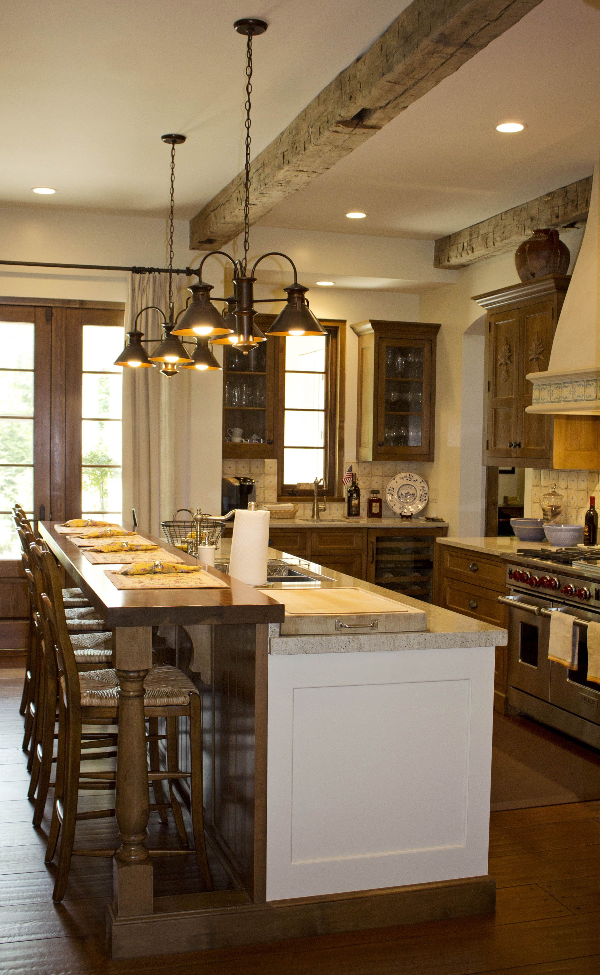 French Country Style Kitchen With Beautiful Reclaimed