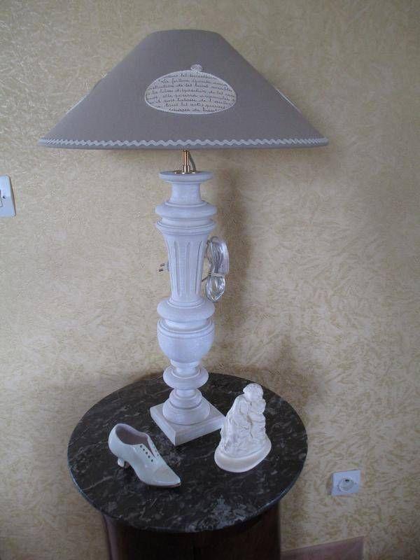 lampe balustre en bois tourn r f 13 109 lampe de table quand la lune s 39 invite fait. Black Bedroom Furniture Sets. Home Design Ideas
