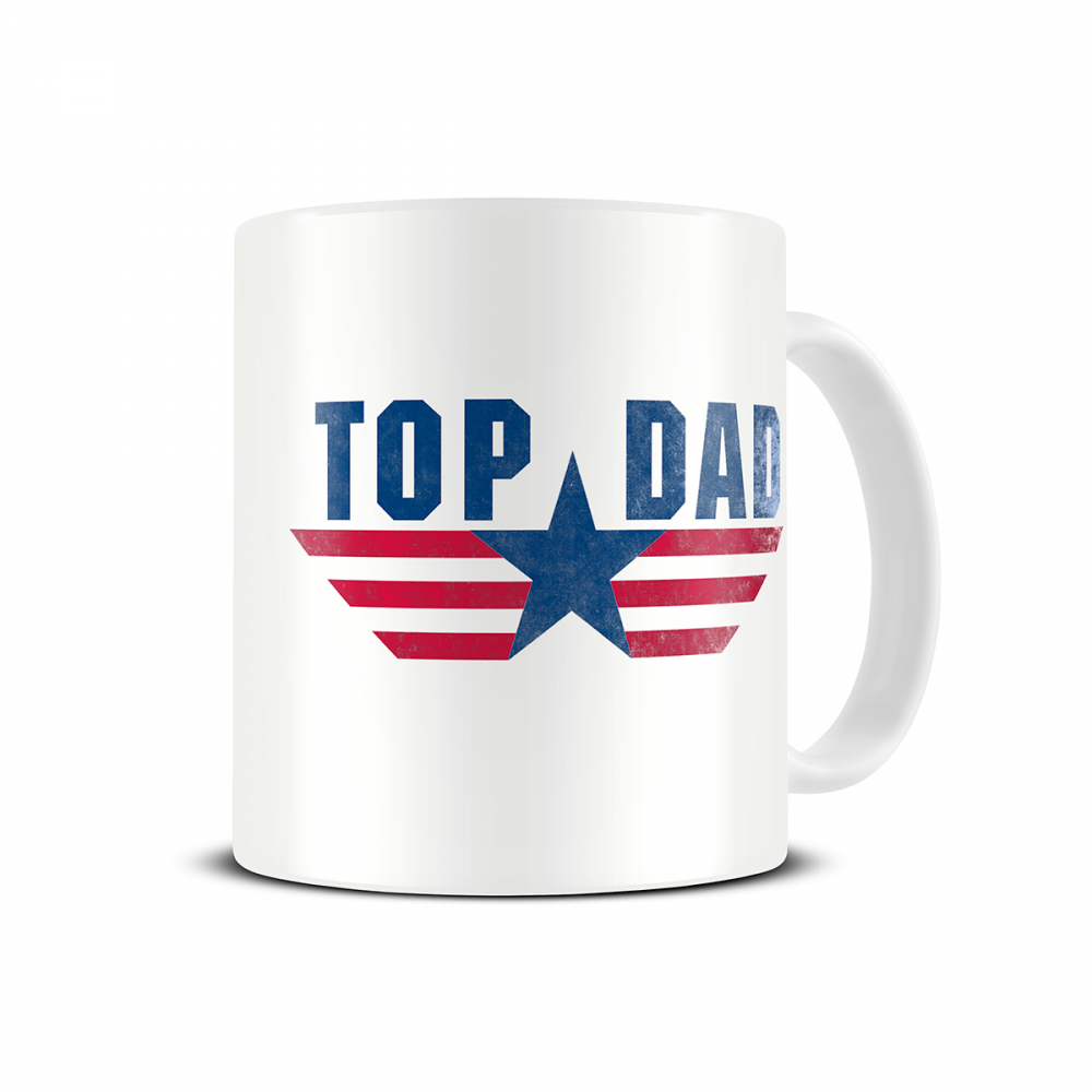 Top Dad Coffee Mug MG355 Fun Father Day Gift. http