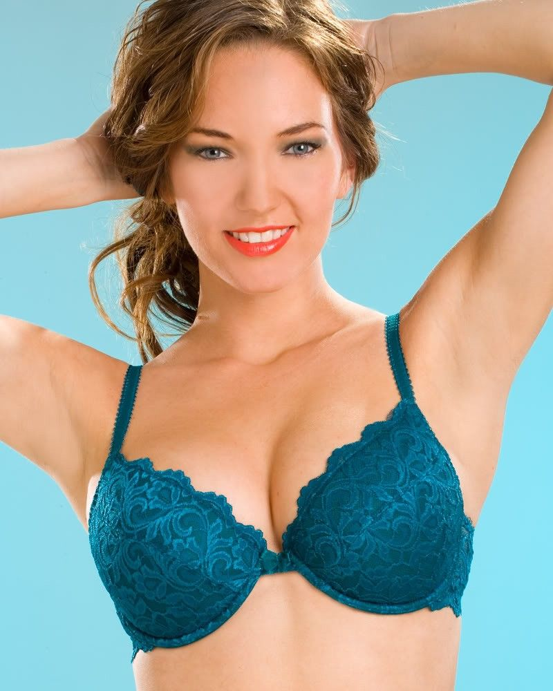 cd228a42b4 Ladies Camille Teal Push Up Underwired Womens Lace Lingerie Bra Sizes  34D-40G Uk