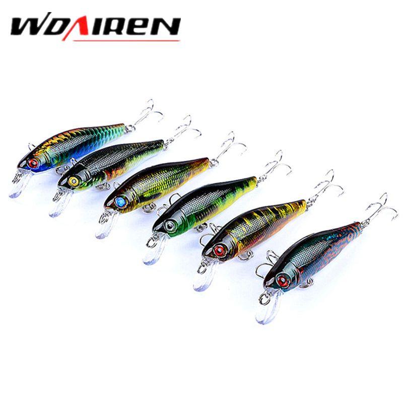 6pcs//Lot Colorful Minnow Bait Fishing Lures Wobbler Hooks Bass Tackle 8.5cm//8.7g