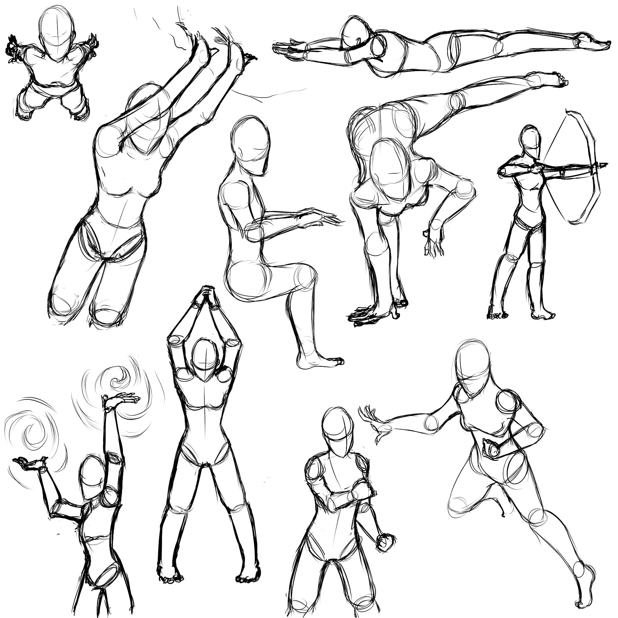 Female Action Poses By Sefti On Deviantart Female Action Poses Action Poses Drawing Art Poses
