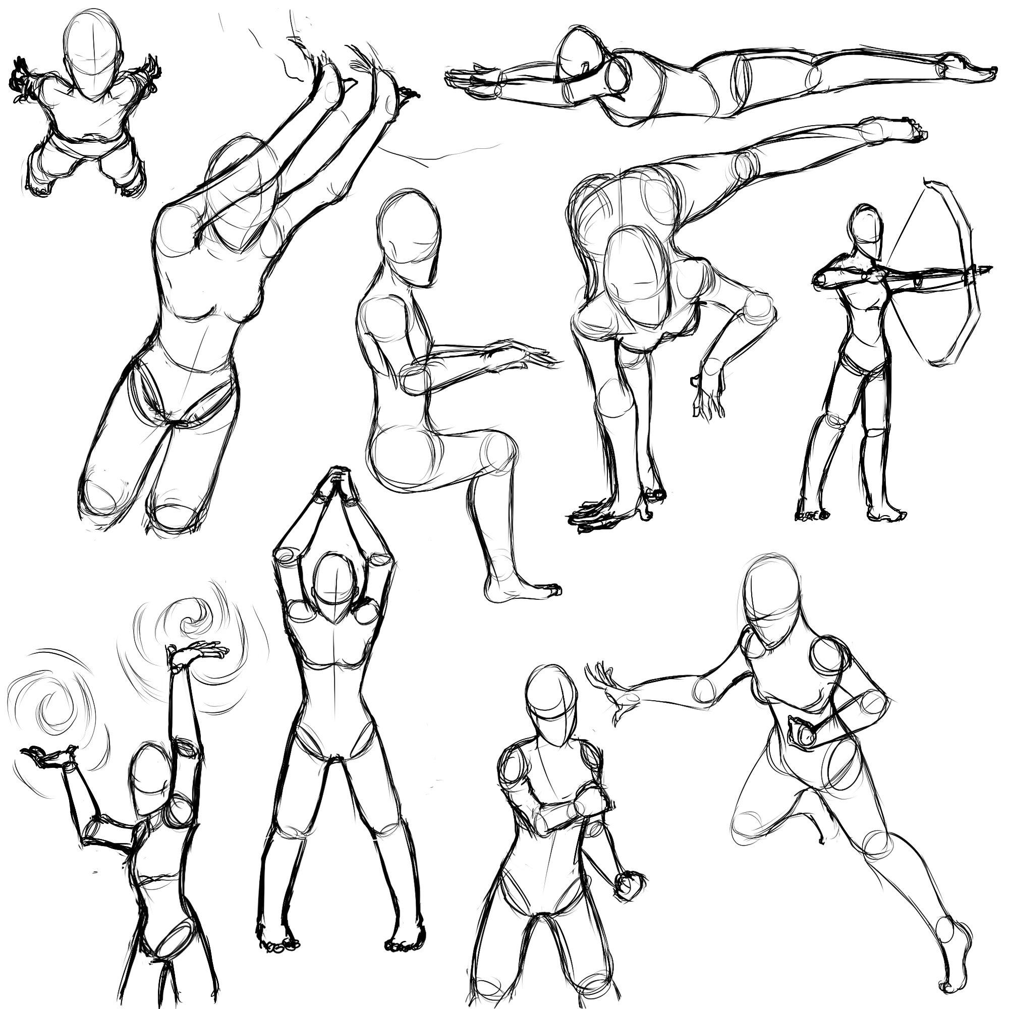 Female Action Poses by Sefti.deviantart.com on @deviantART | Draw ...