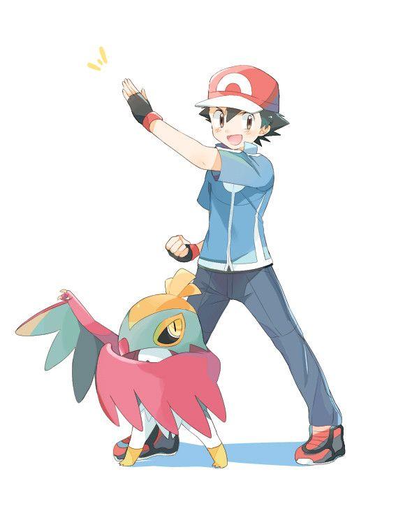 Ash and his Hawlucha ^.^ ♡