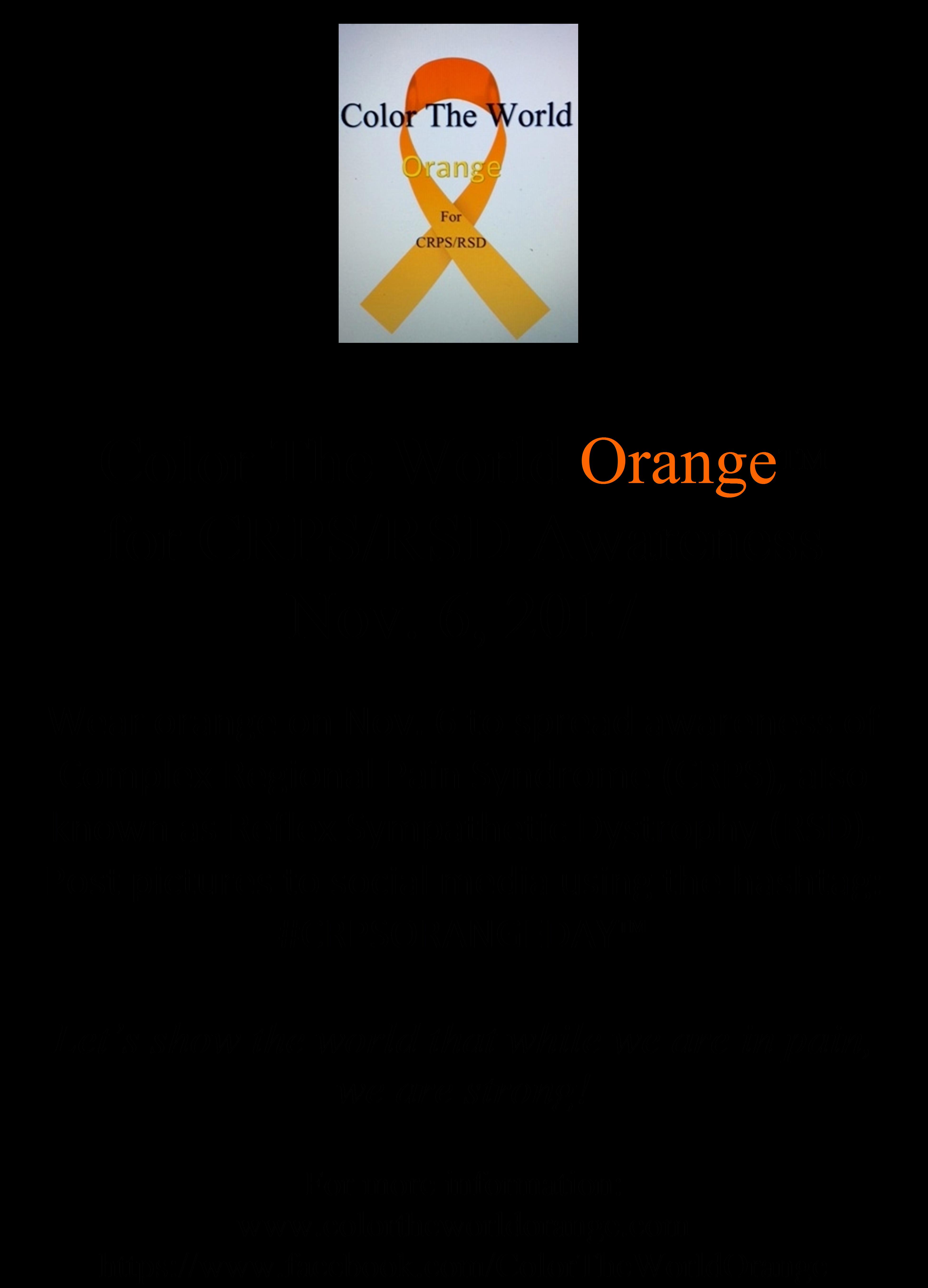 Colour therapy for fibromyalgia - Color The World Orange 2016 Sign