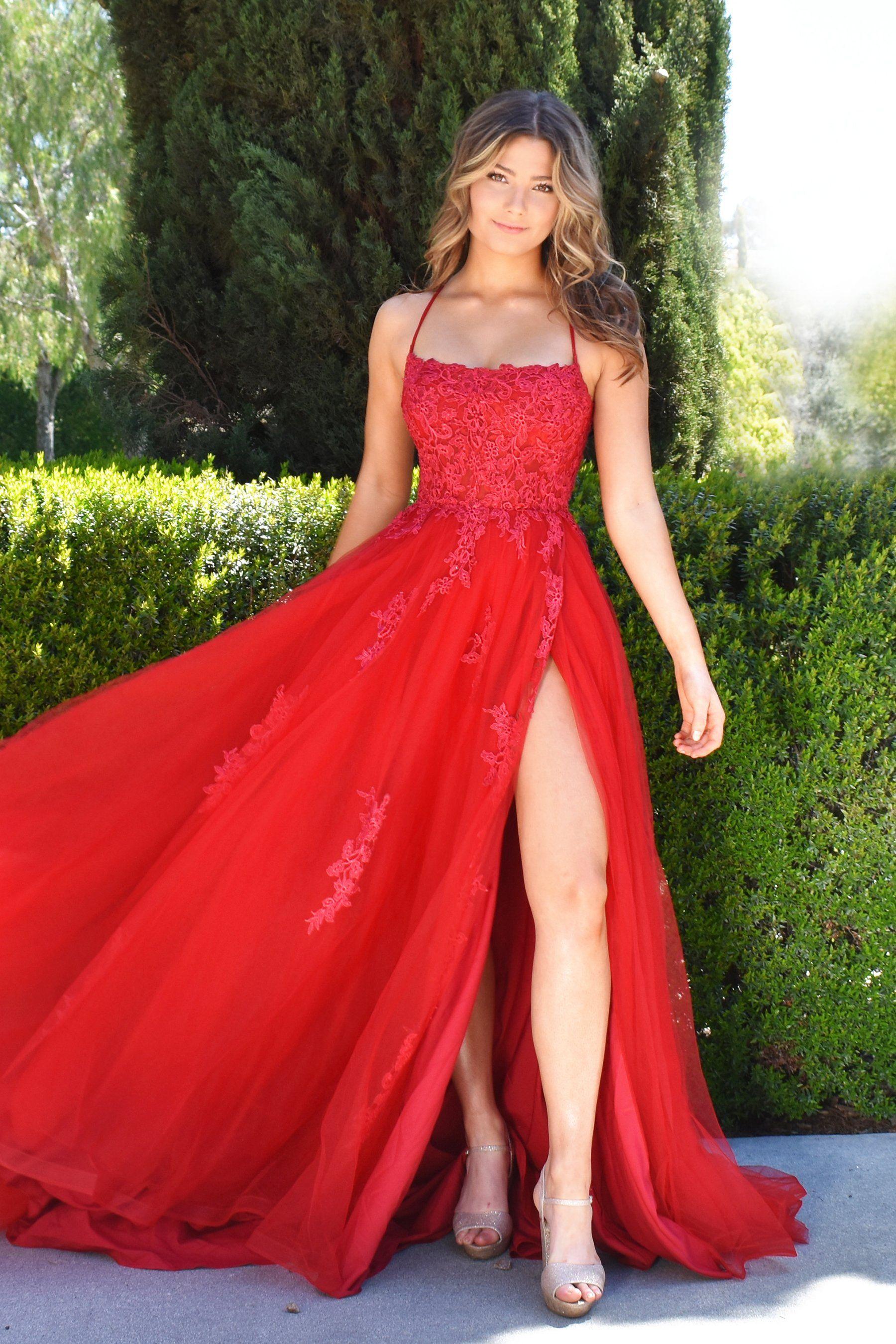 Alisha Gown Red Prom Dress Long Red Prom Dress Red Prom Dresses Long Elegant [ 2700 x 1800 Pixel ]