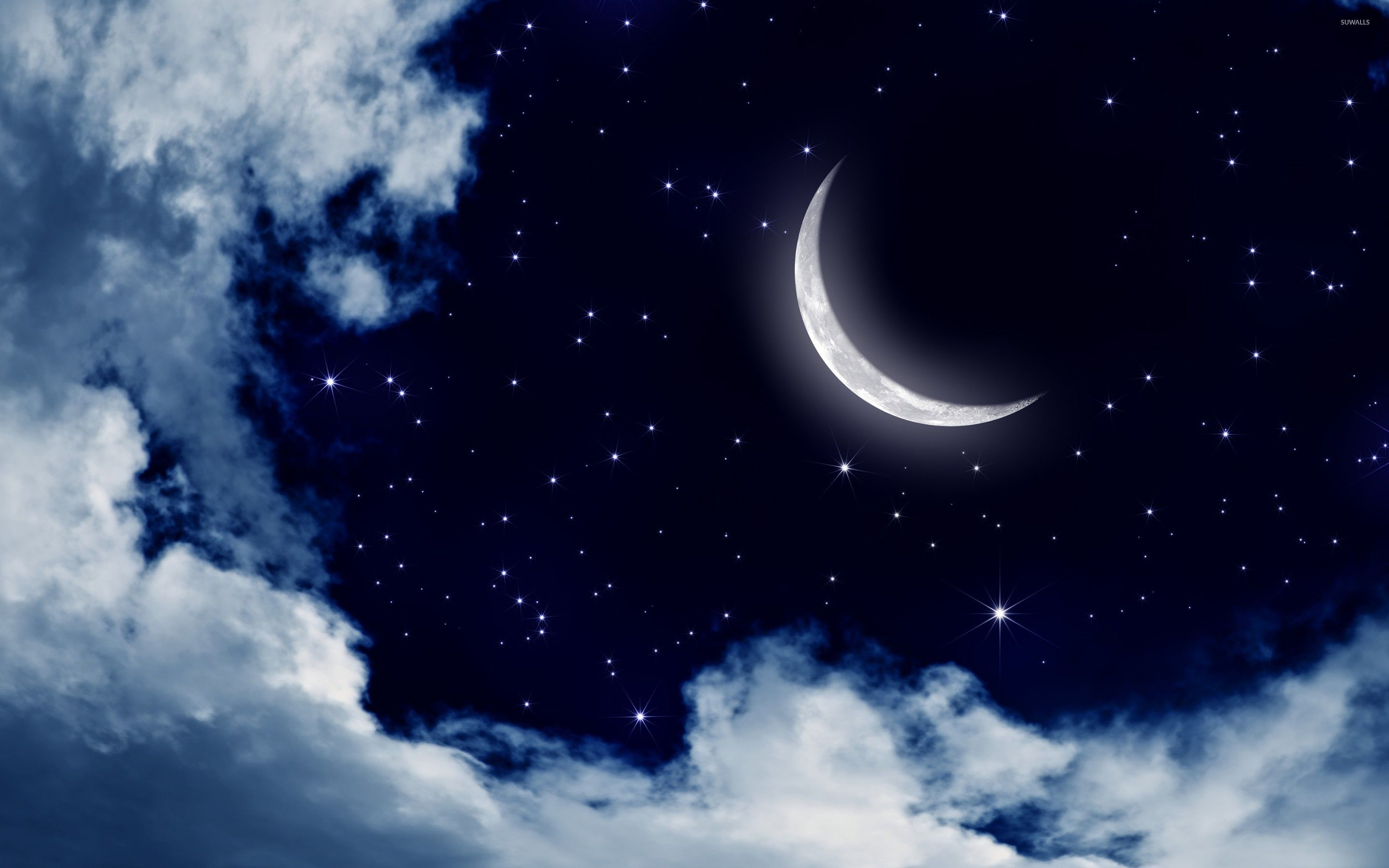 Wallpapers Of Stars And Moon With Images Moon And Stars